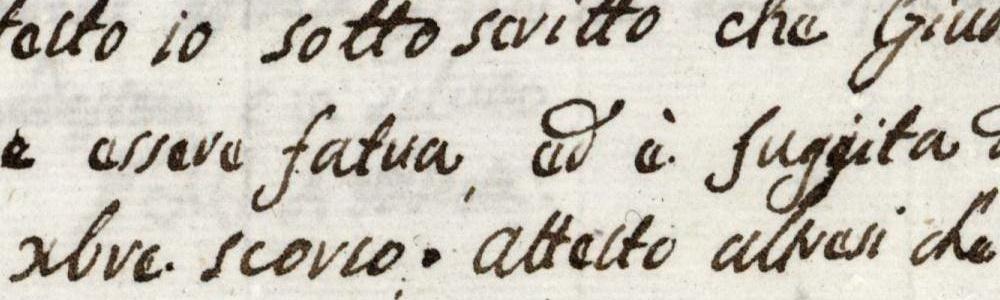 1815. Si denuncia la scomparsa di una donna