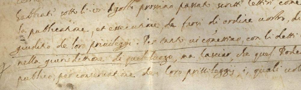 1604. Ordine ducale di Leonardo Donà ai rettori di Bergamo.