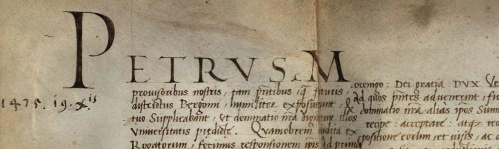 1475. Conferma di privilegi di Pietro Mocenigo.