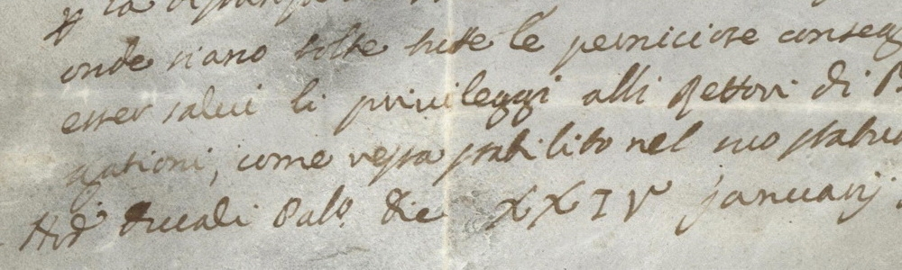 1732. Ordine ducale di Carlo Ruzzini al capitano di Bergamo.