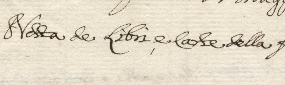 1799. Notta de' libri e carte della fu Amministrazione Municipale.