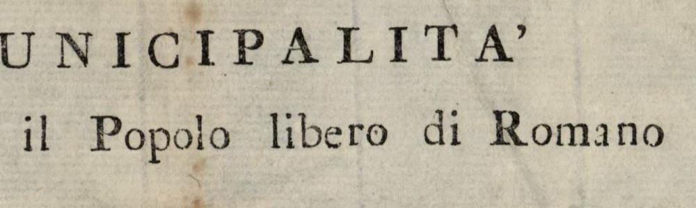 1797. Proclama della Municipalità del