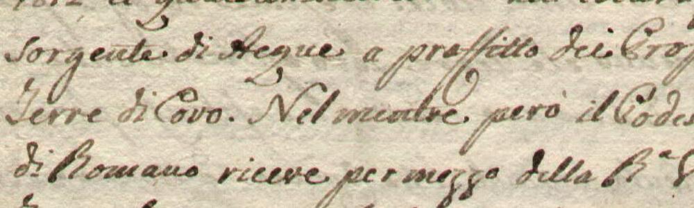 1815. Questioni d'acque con il comune di Covo