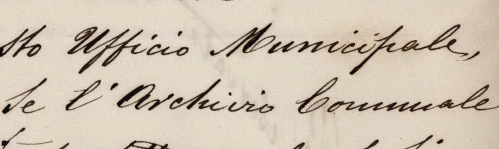 1876. Riordino dell'archivio comunale.
