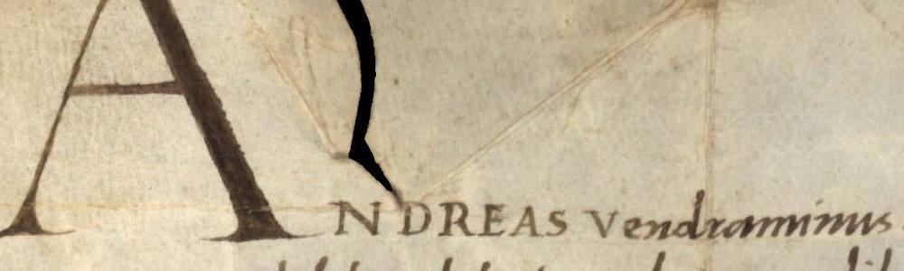 1477. Ordine ducale di Andrea Vendramin.
