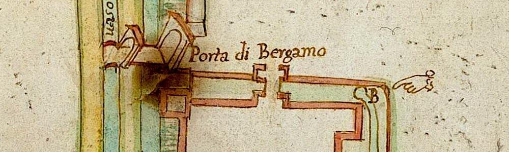 sec. XVIII. Planimetria del borgo di Romano.